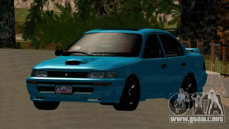 Toyota Corola AE100 para visión interna GTA San Andreas