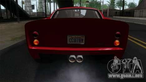 GTA 5 Grotti Stinger GT v2 IVF para GTA San Andreas vista hacia atrás
