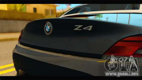 BMW Z4 sDrive35is 2011 para GTA San Andreas vista hacia atrás