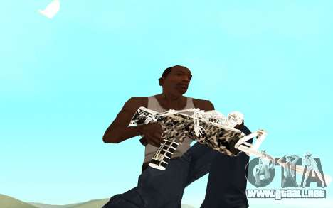 Skeleton Weapon Pack para GTA San Andreas segunda pantalla