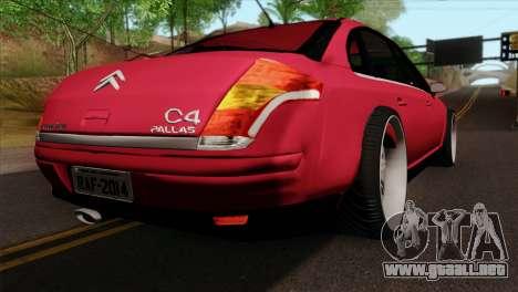 Citroen C4 Sedan para GTA San Andreas left