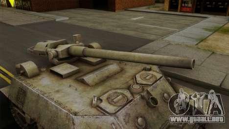 T57 Self Propelled Gun para la visión correcta GTA San Andreas