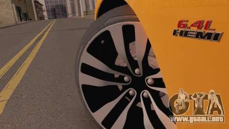 Dodge Charger SRT8 2012 Stock Version para la visión correcta GTA San Andreas