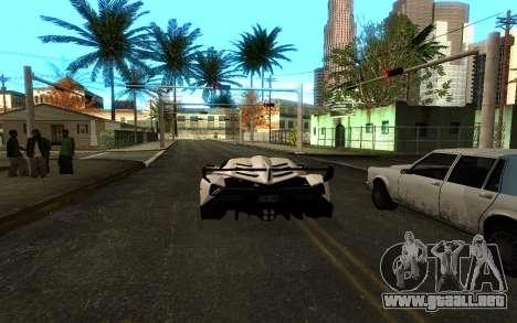 Colormod & ENBSeries para GTA San Andreas sucesivamente de pantalla