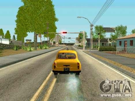 Moskvich 410 En para GTA San Andreas vista posterior izquierda