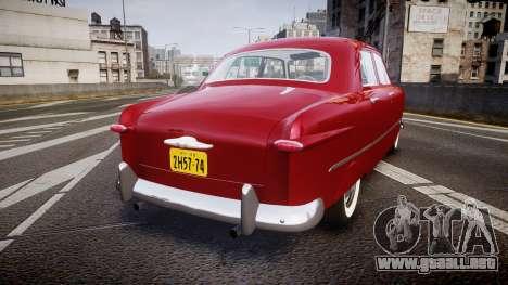 Ford Custom Fordor 1949 v2.2 para GTA 4 Vista posterior izquierda