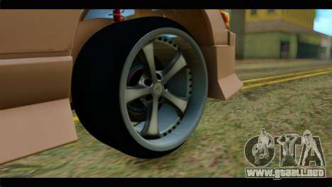 Nissan Silvia para GTA San Andreas vista posterior izquierda