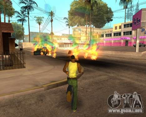 Rainbow Effects para GTA San Andreas novena de pantalla