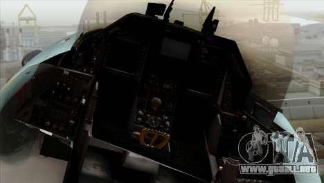 F-16C TNI Angkatan Udara para GTA San Andreas vista hacia atrás