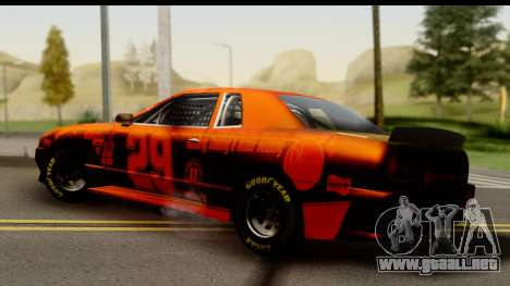 Elegy NASCAR para GTA San Andreas vista posterior izquierda