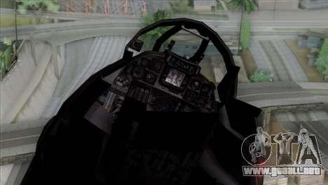 F-14 China Air Force para GTA San Andreas vista hacia atrás