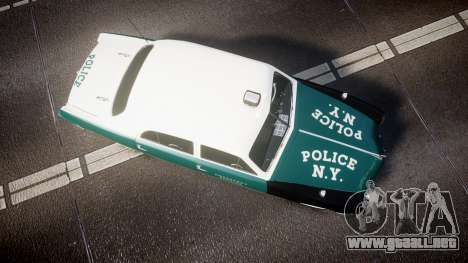 Ford Custom Fordor 1949 New York Police para GTA 4 visión correcta