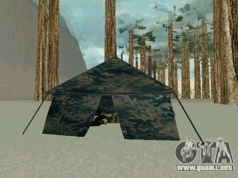 Tienda de campaña para GTA San Andreas tercera pantalla