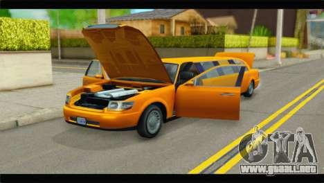 GTA 5 Dundreary Stretch para GTA San Andreas vista hacia atrás