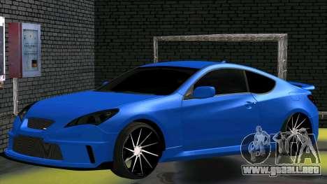 Hyundai Genesis Coupe para GTA San Andreas vista posterior izquierda