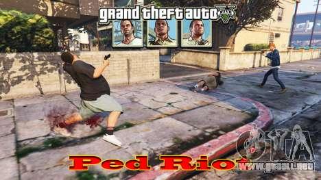 GTA 5 Ped Riot (un Motín de los ciudadanos de Los Sant