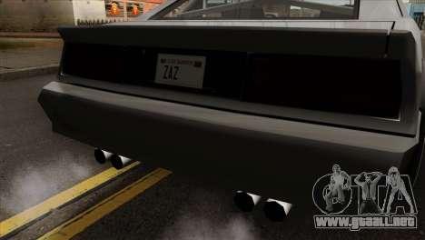 Buffalo Supercharged para GTA San Andreas vista hacia atrás