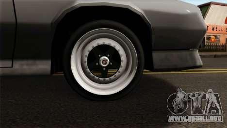 Buffalo Supercharged para GTA San Andreas vista posterior izquierda