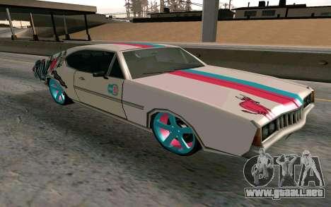 Clover Blink-182 Edition para GTA San Andreas vista hacia atrás