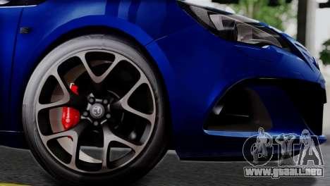 Vauxhall Astra VXR 2012 para la visión correcta GTA San Andreas
