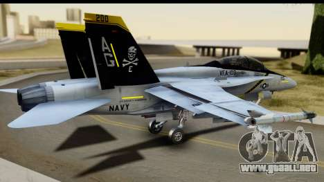 FA-18D VFA-103 Jolly Rogers para GTA San Andreas left