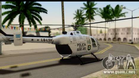 MBB Bo-105 Argentine Police para GTA San Andreas left