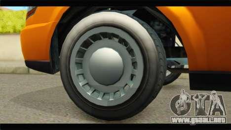 GTA 5 Dundreary Stretch para GTA San Andreas vista posterior izquierda