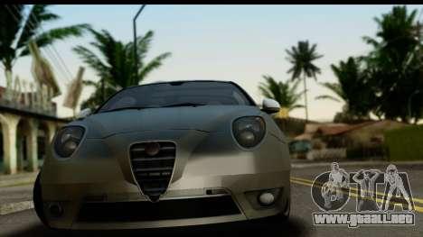 Alfa Romeo Mito Tuning para GTA San Andreas vista posterior izquierda