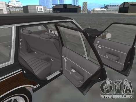 Plymouth Volare Wagon 1976 wood para visión interna GTA San Andreas