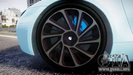 BMW i8 2013 para GTA 4 vista hacia atrás
