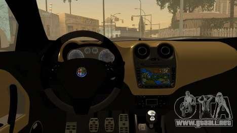 Alfa Romeo Mito Tuning para vista lateral GTA San Andreas