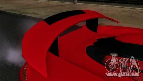 Gemballa Mirage GT v3 Windows Up para la visión correcta GTA San Andreas