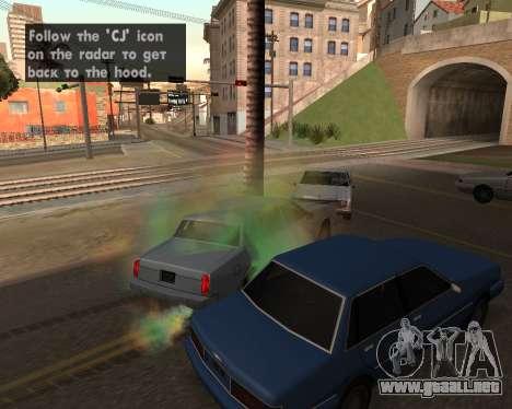 Rainbow Effects para GTA San Andreas sexta pantalla