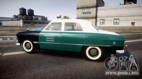 Ford Custom Fordor 1949 New York Police para GTA 4 left