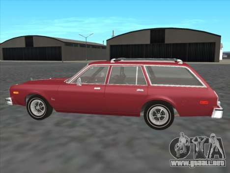 Plymouth Volare Wagon 1976 para GTA San Andreas left