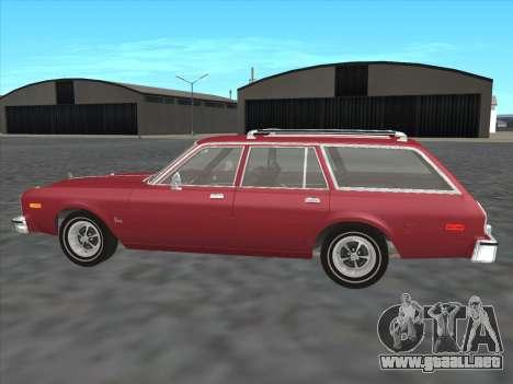 Plymouth Volare Wagon 1976 para GTA San Andreas left