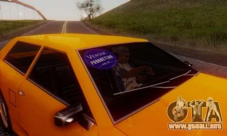 Elegy Hatchback v.1 para GTA San Andreas vista hacia atrás