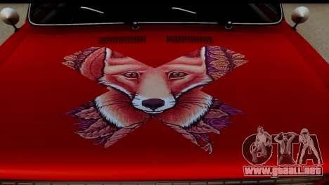VAZ 2101 FOX para GTA San Andreas vista hacia atrás