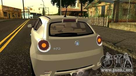 Alfa Romeo Mito Tuning para la vista superior GTA San Andreas