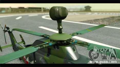 Eurocopter Tiger Polish Air Force para GTA San Andreas vista hacia atrás