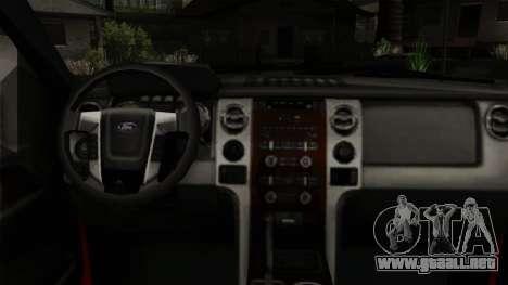 Ford F150 Off Road para la visión correcta GTA San Andreas