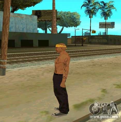 Macheter Vagos para GTA San Andreas segunda pantalla