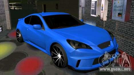 Hyundai Genesis Coupe para visión interna GTA San Andreas