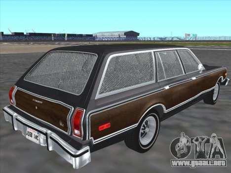 Plymouth Volare Wagon 1976 wood para GTA San Andreas vista posterior izquierda