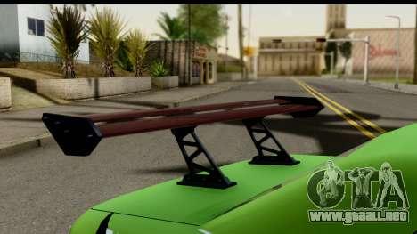 Elegy Leafa SAO Camber para GTA San Andreas vista hacia atrás