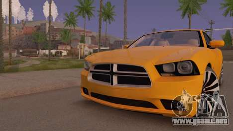 Dodge Charger SRT8 2012 Stock Version para GTA San Andreas left
