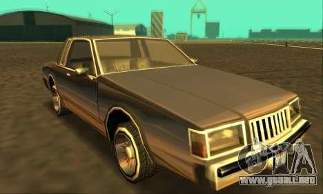 Majestic Restyle para GTA San Andreas vista posterior izquierda