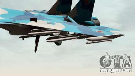 SU-33 Flanker-D Blue Camo para la visión correcta GTA San Andreas