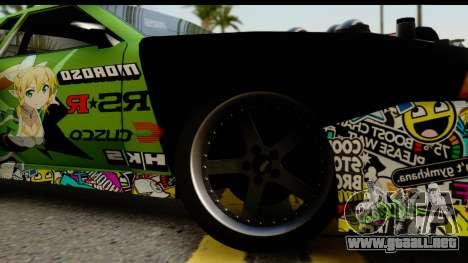 Elegy Leafa SAO Camber para GTA San Andreas vista posterior izquierda