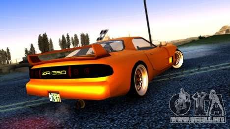 ZR-350 by Verone v.1 para GTA San Andreas vista posterior izquierda